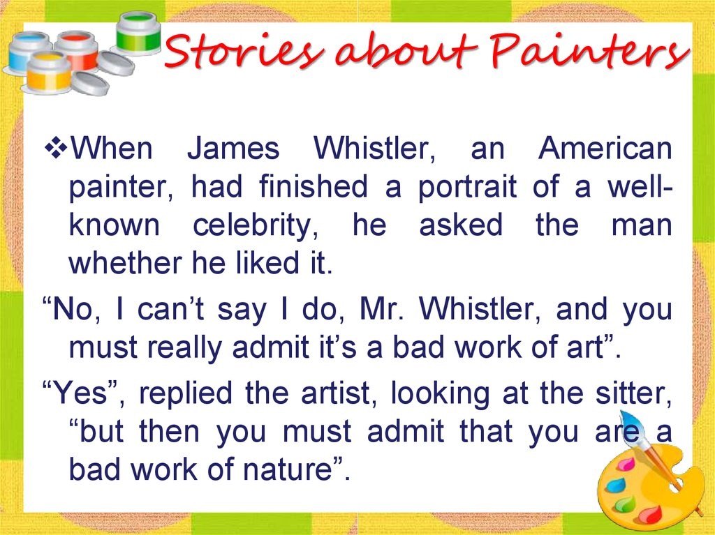 Stories about Painters