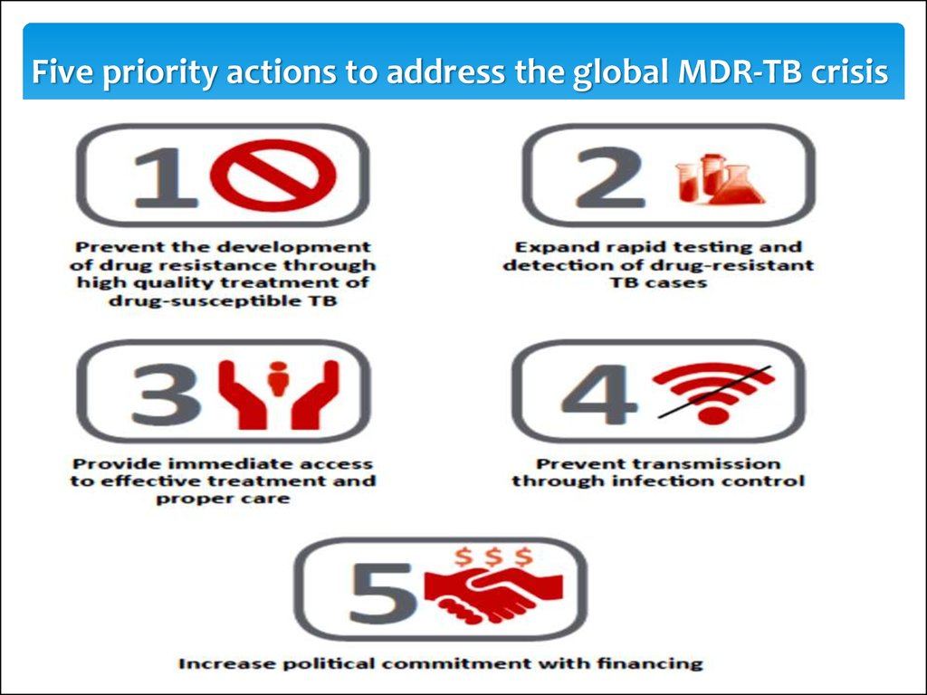 Five priority actions to address the global MDR-TB crisis