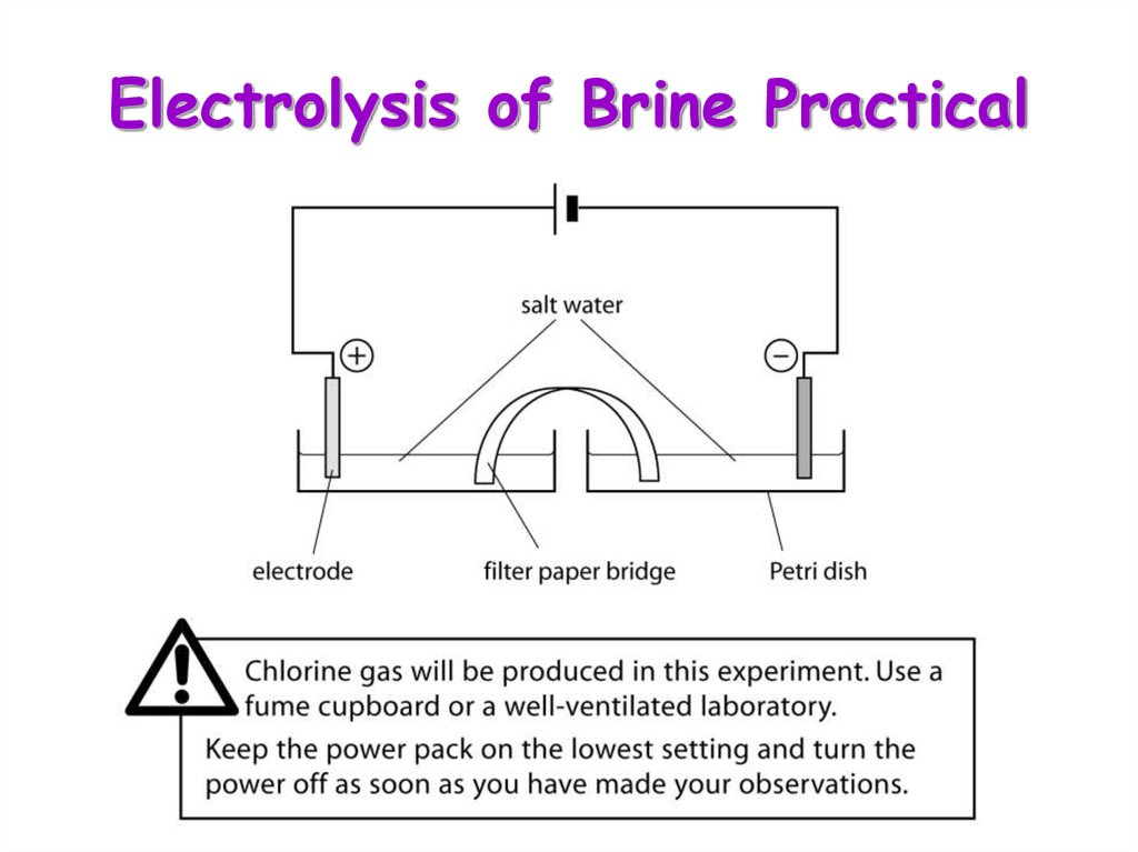 Electrolysis of Brine Practical