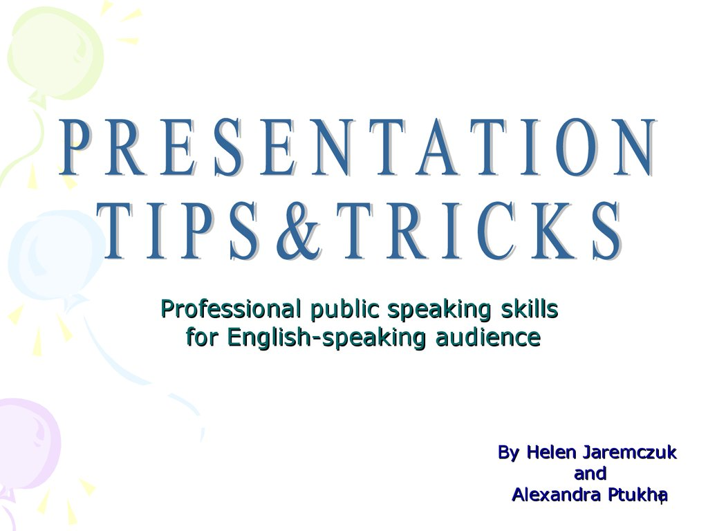 Professional public speaking skills for English-speaking audience