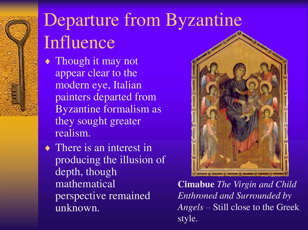 Departure from Byzantine Influence