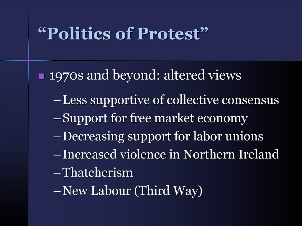"""Politics of Protest"""