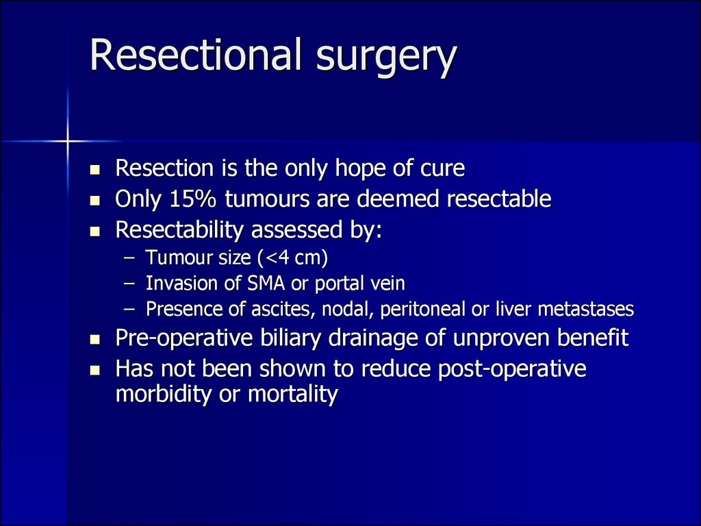 Resectional surgery