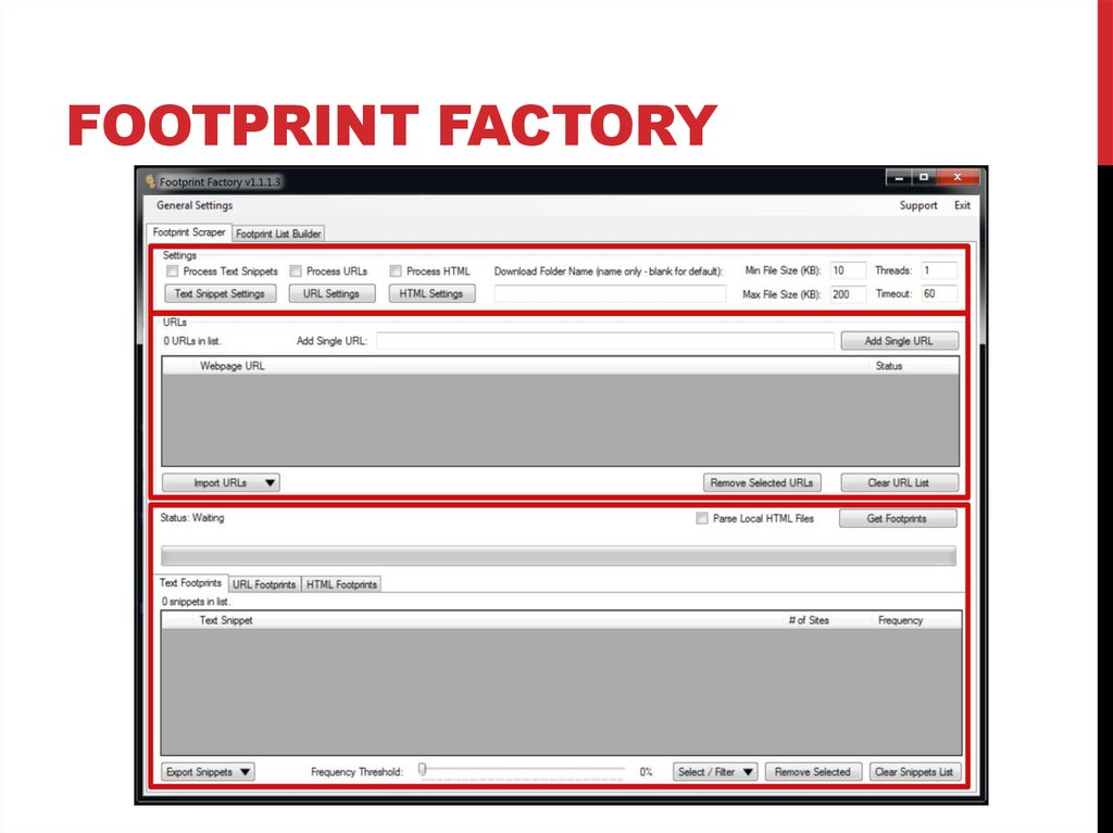 Footprint factory