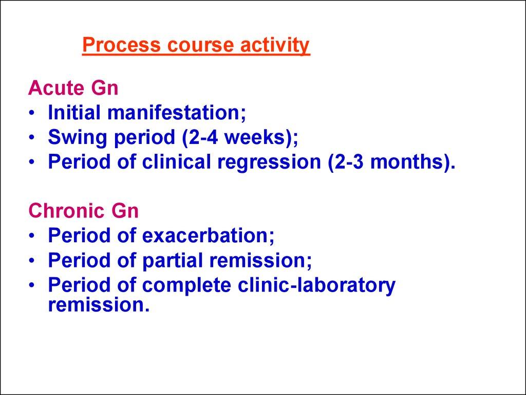 14 Process Course Activity Acute Gn