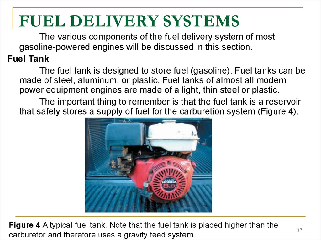 FUEL DELIVERY SYSTEMS