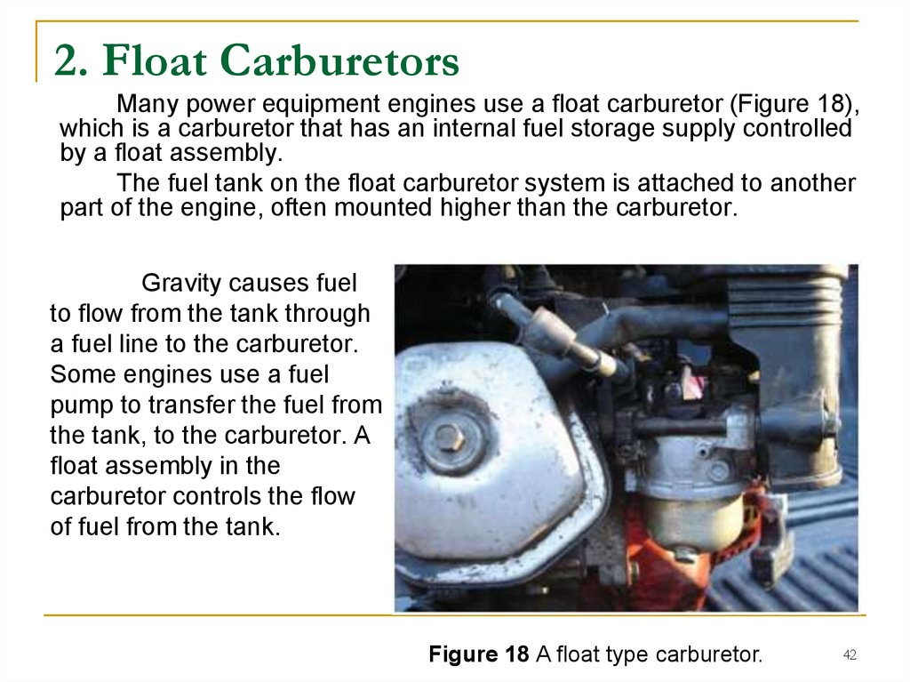 2. Float Carburetors