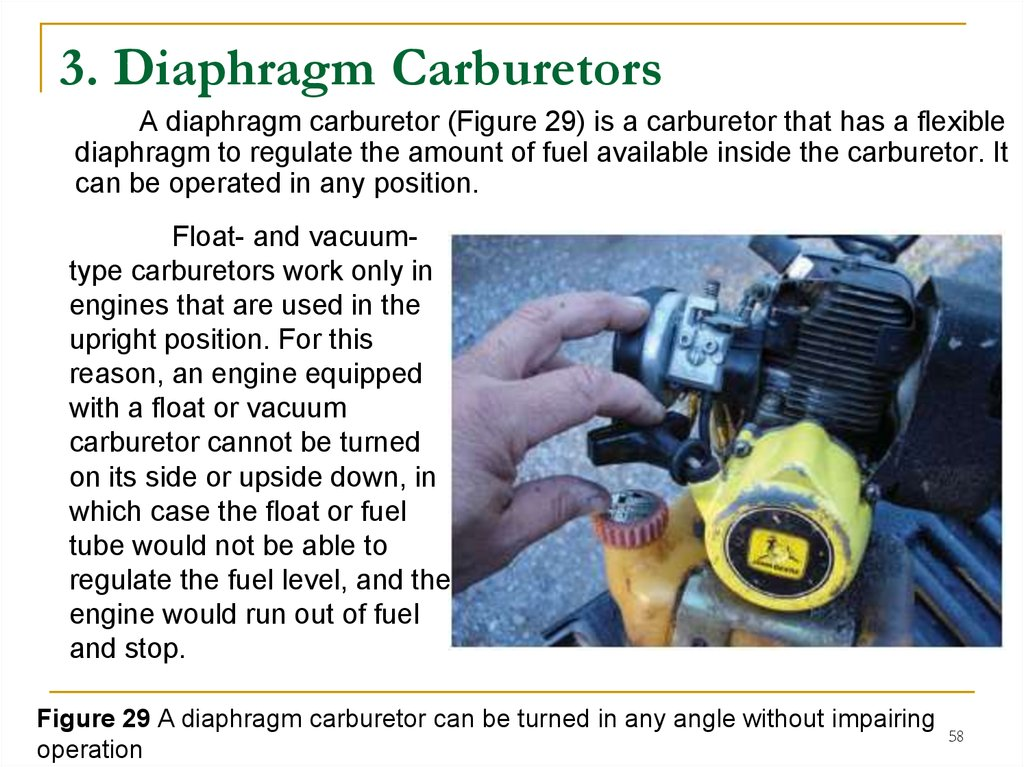 3. Diaphragm Carburetors
