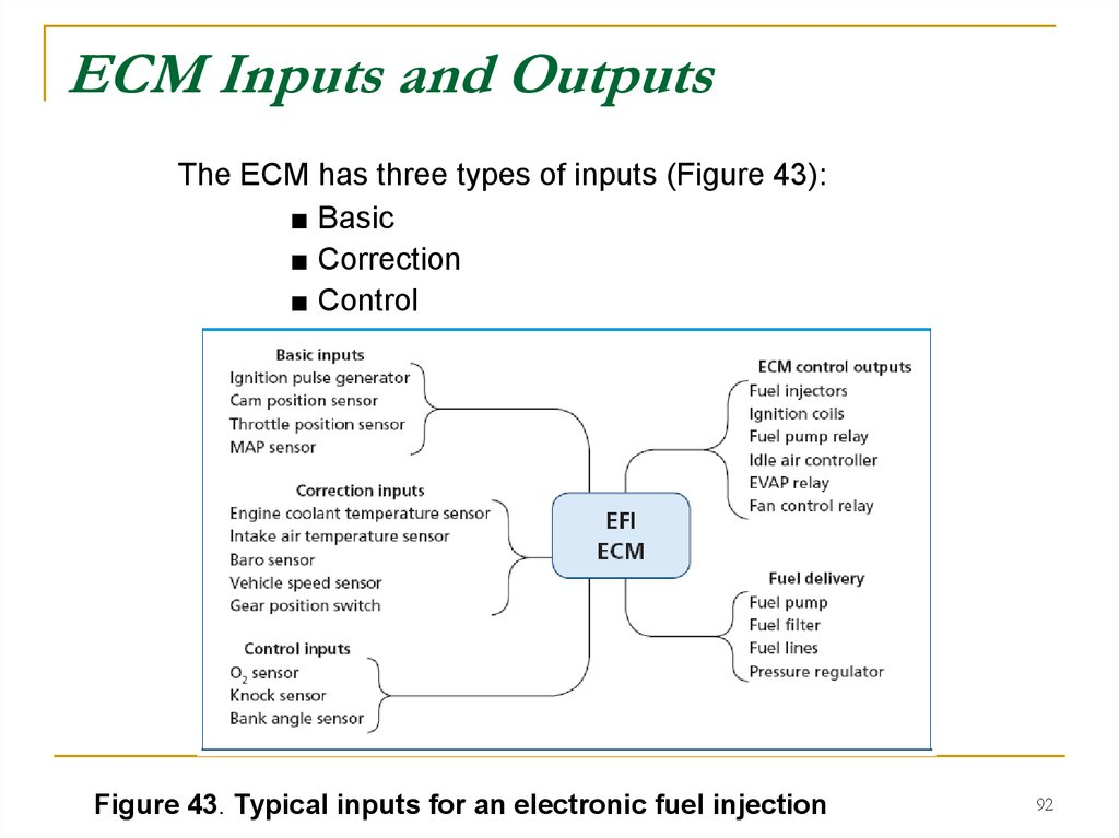 ECM Inputs and Outputs