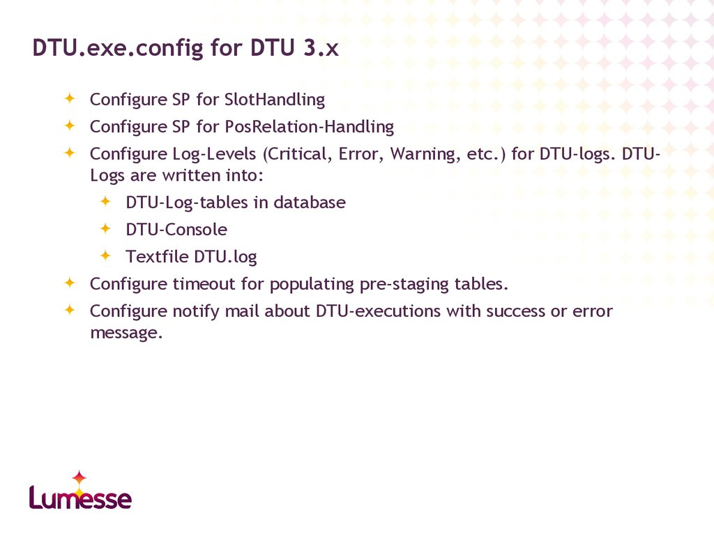 DTU.exe.config for DTU 3.x