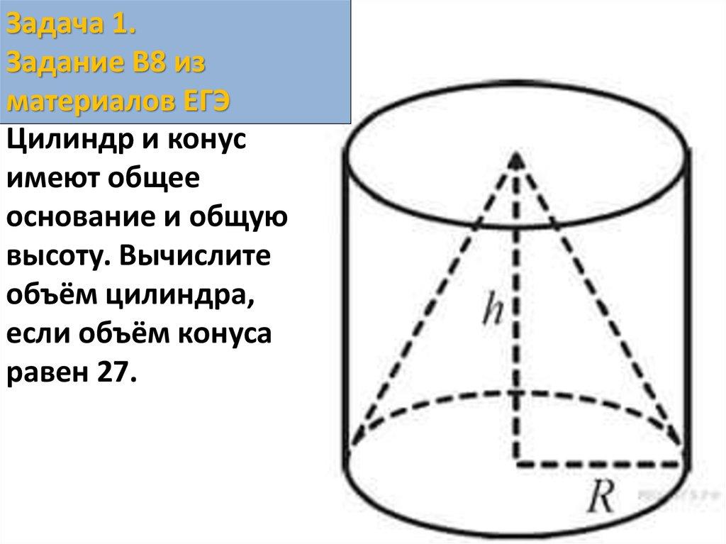 Решение задач по цилиндру из егэ синус косинус и тангенс решение задач презентация