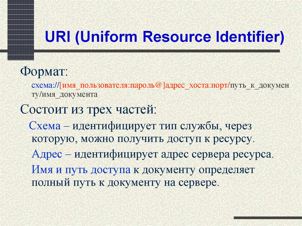 URI (Uniform Resource Identifier)