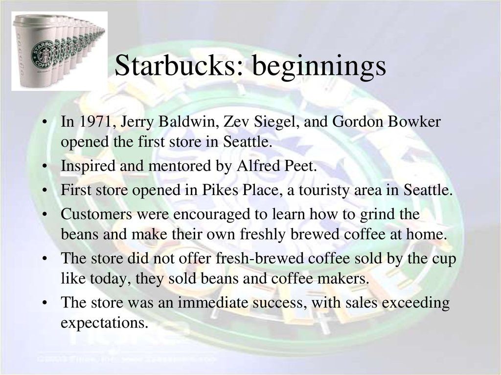 Starbucks: beginnings