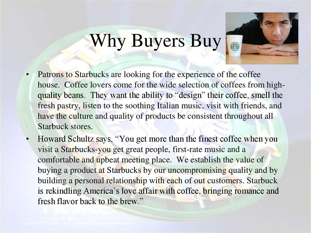 Why Buyers Buy