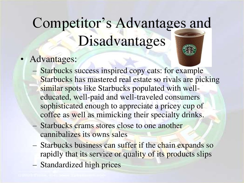 Competitor's Advantages and Disadvantages