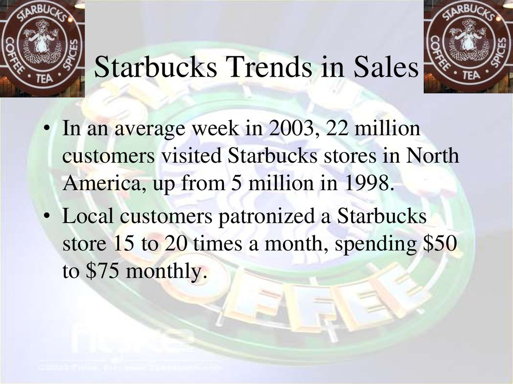 Starbucks Trends in Sales