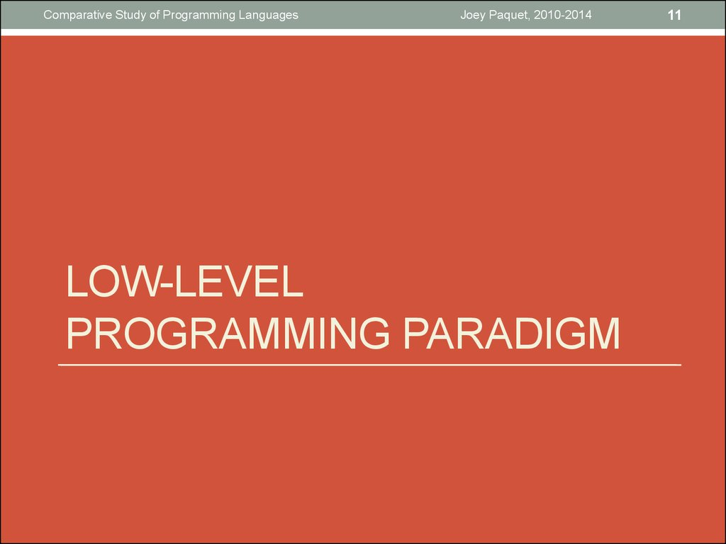 Low-level programming paradigm