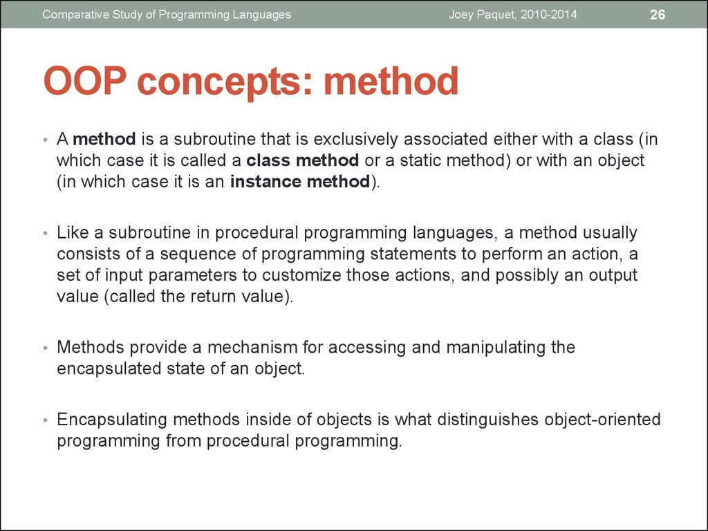 OOP concepts: method