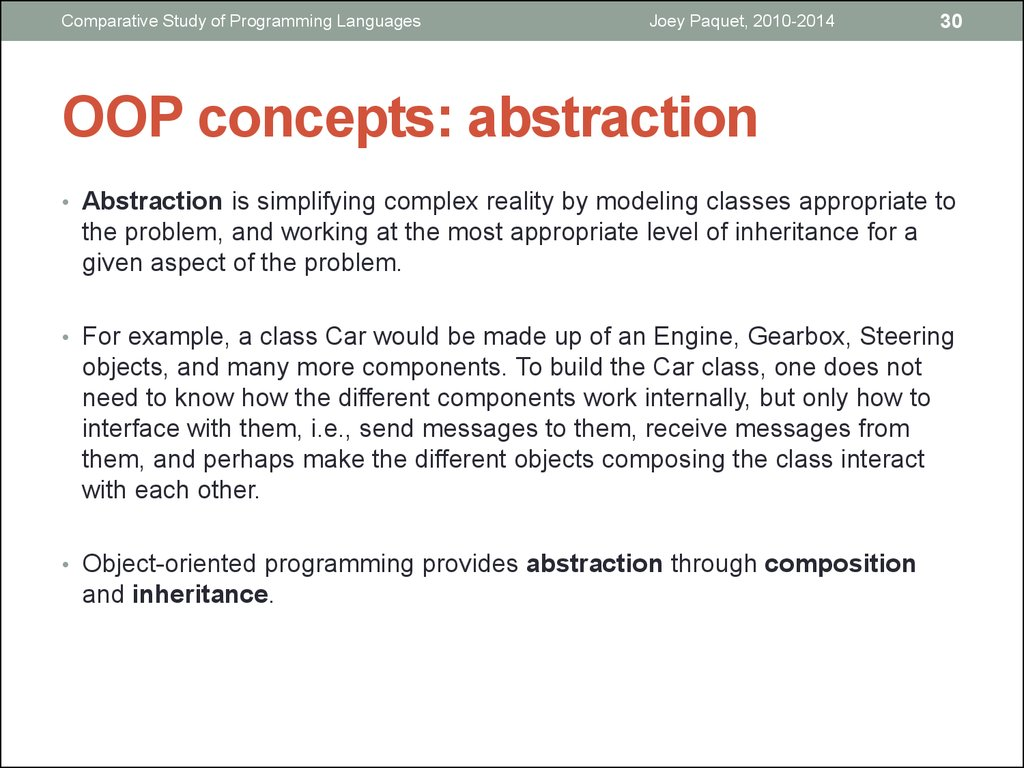 OOP concepts: abstraction