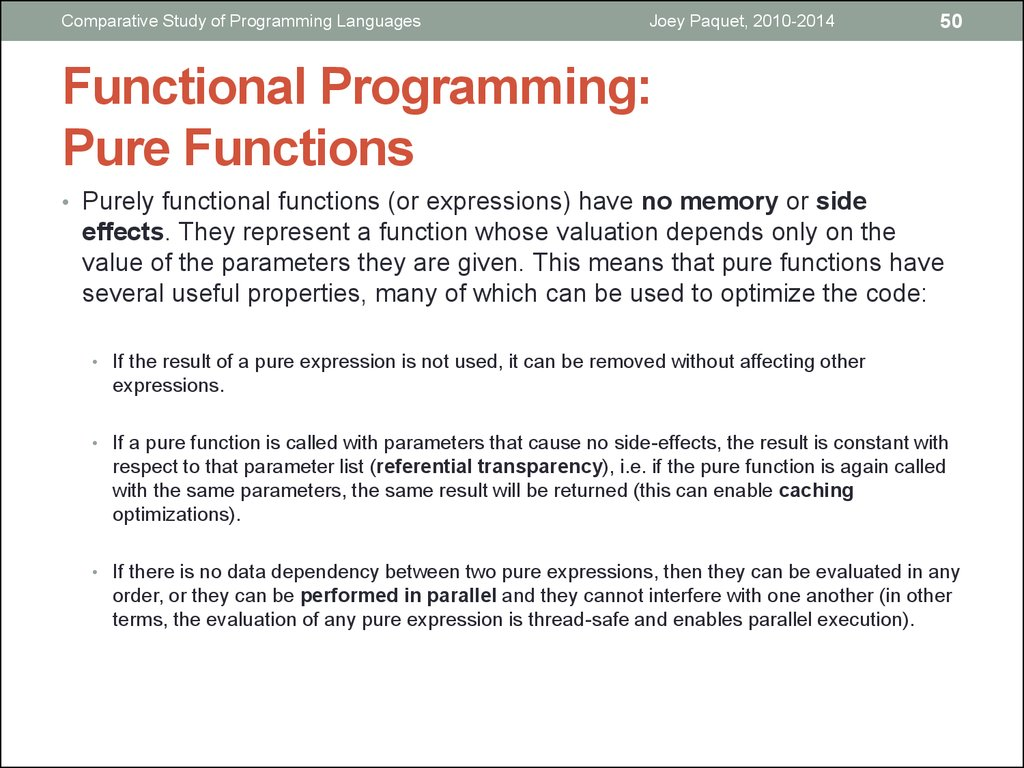 Functional Programming: Pure Functions