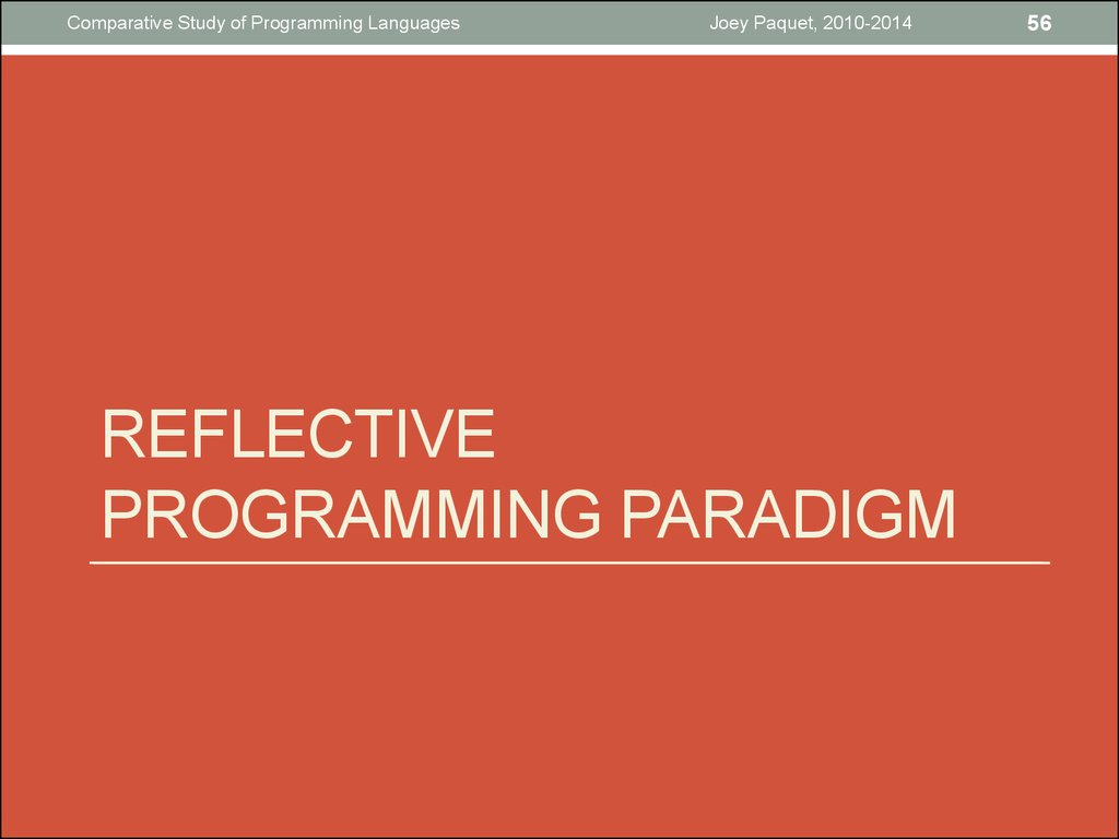 REflective programming paradigm