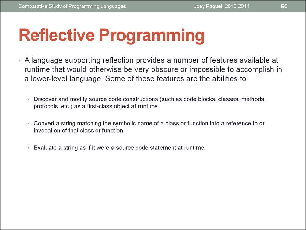 COMP6411  Comparative study of programming languages  (Part