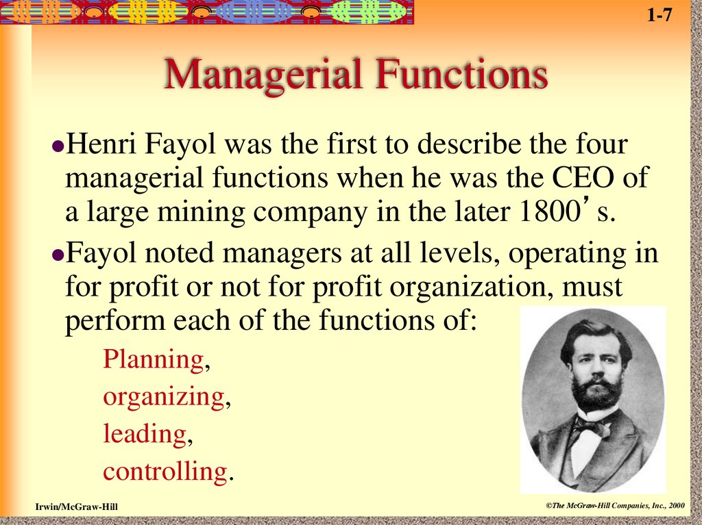 the relevance of henri fayols four management functions essay Fayols four functions of management management essay this interview has shown that fayol's four functions were needed by a henry mintzberg vs henri fayol.