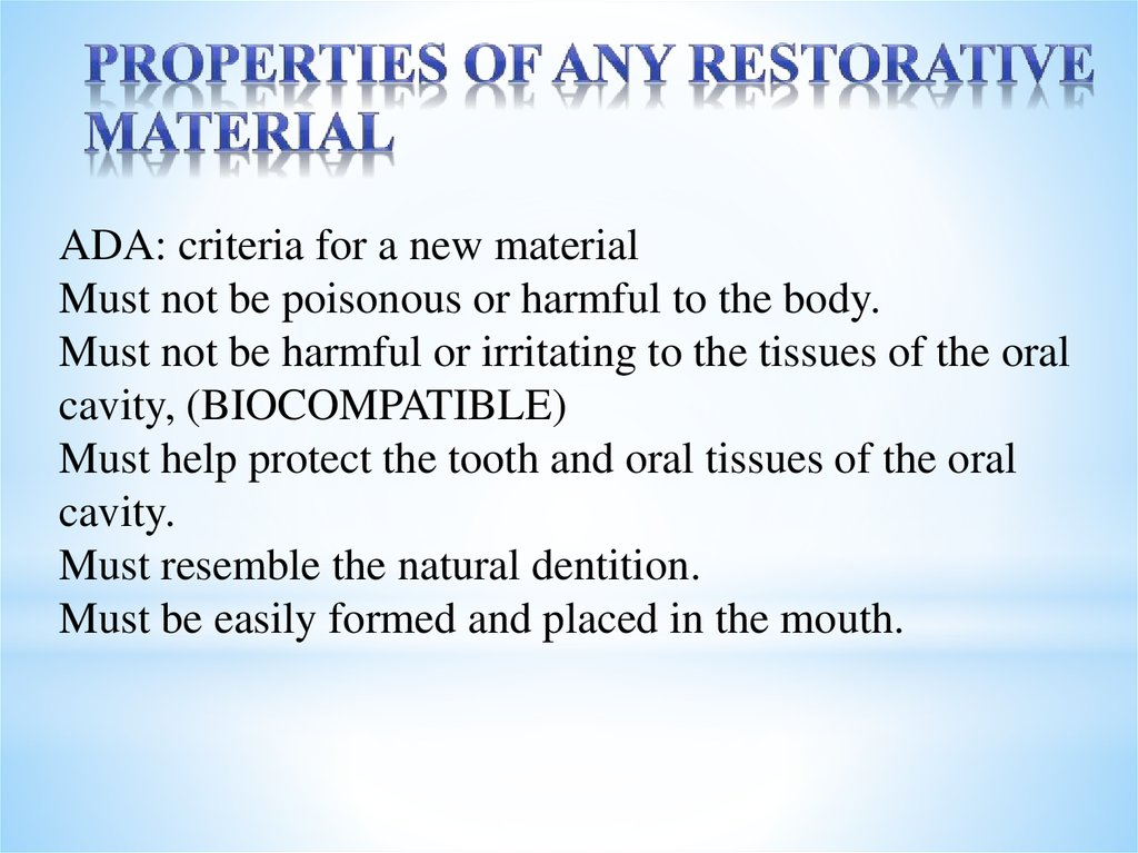 Restorative dentistry - online presentation