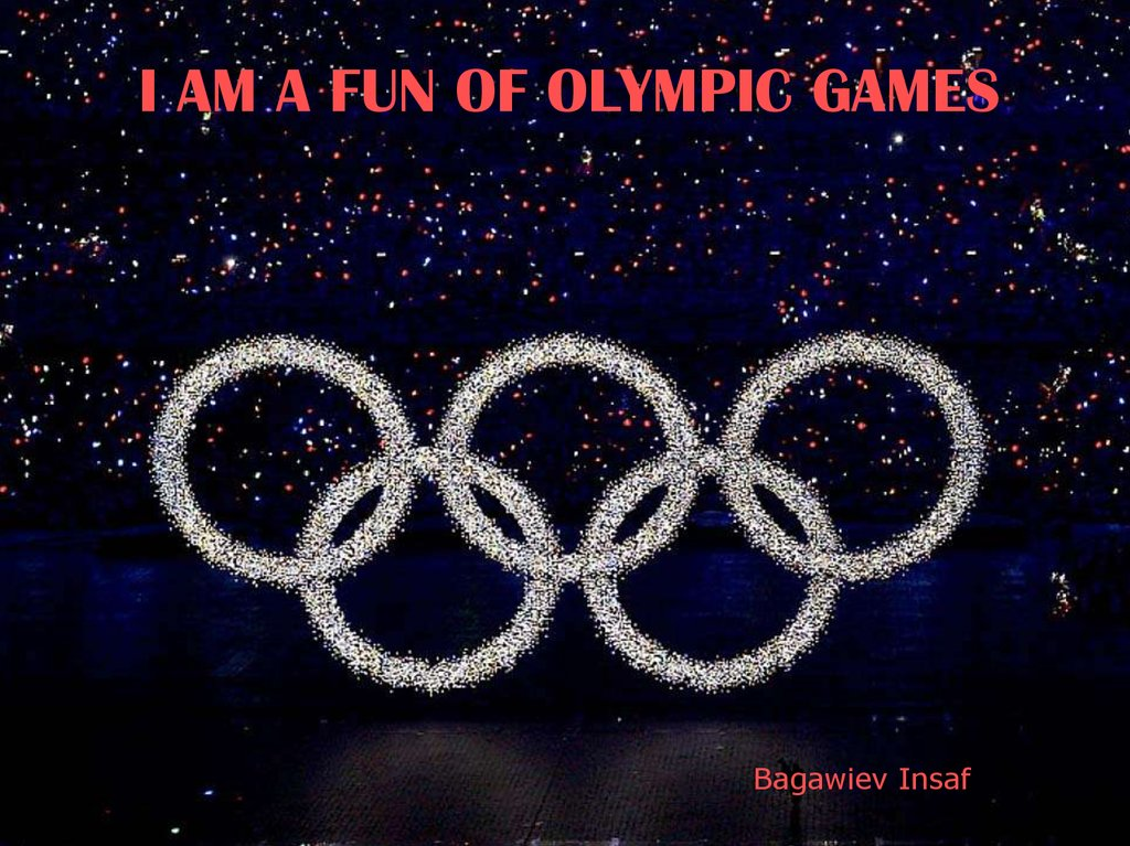 i am a fun of olympic games online presentation