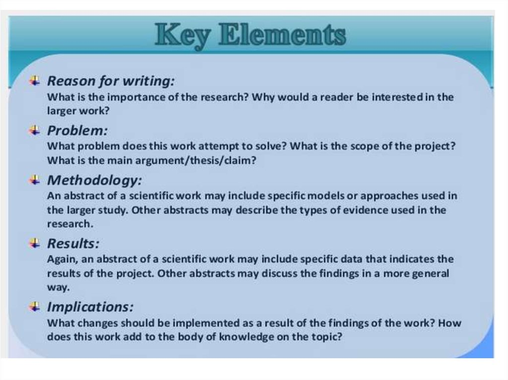 key elements of a essay