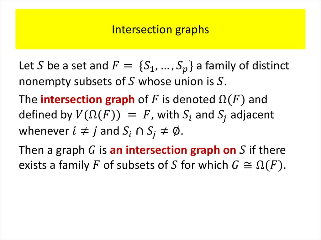 Intersection graphs