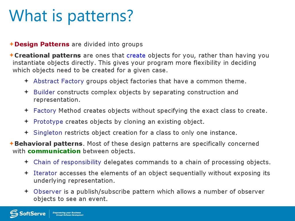 What Is Pattern Custom Ideas