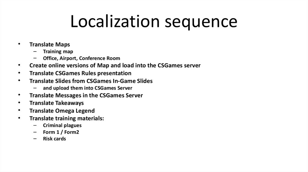 Localization sequence