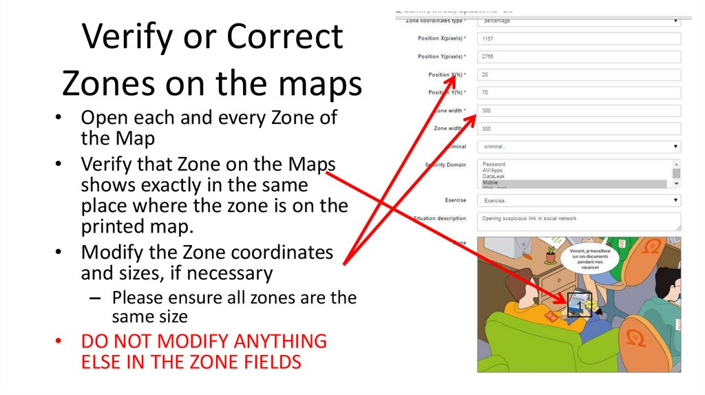 Verify or Correct Zones on the maps