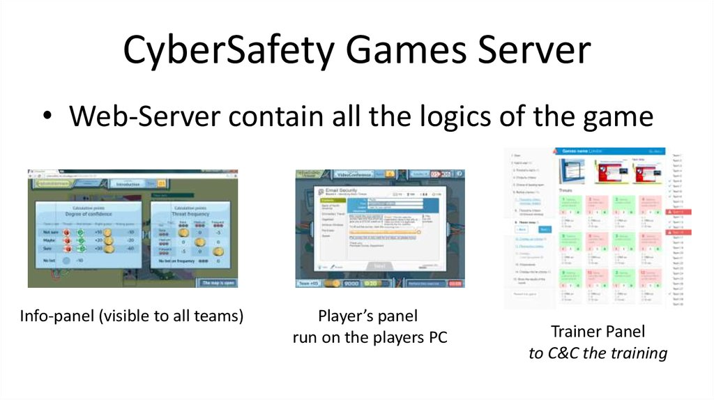 CyberSafety Games Server