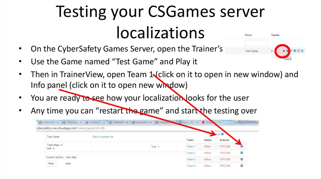 Testing your CSGames server localizations