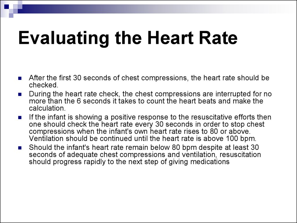 Evaluating the Heart Rate