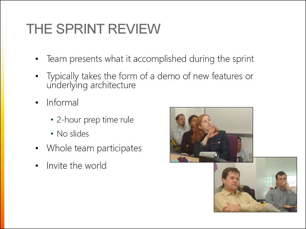 The sprint review