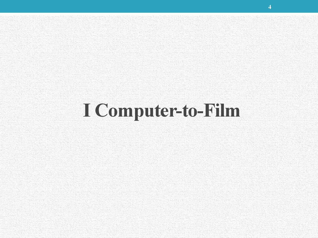 I Computer-to-Film