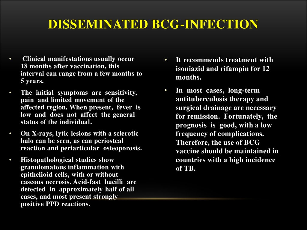 Disseminated BCG-infection