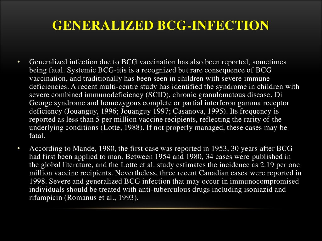 Generalized BCG-infection