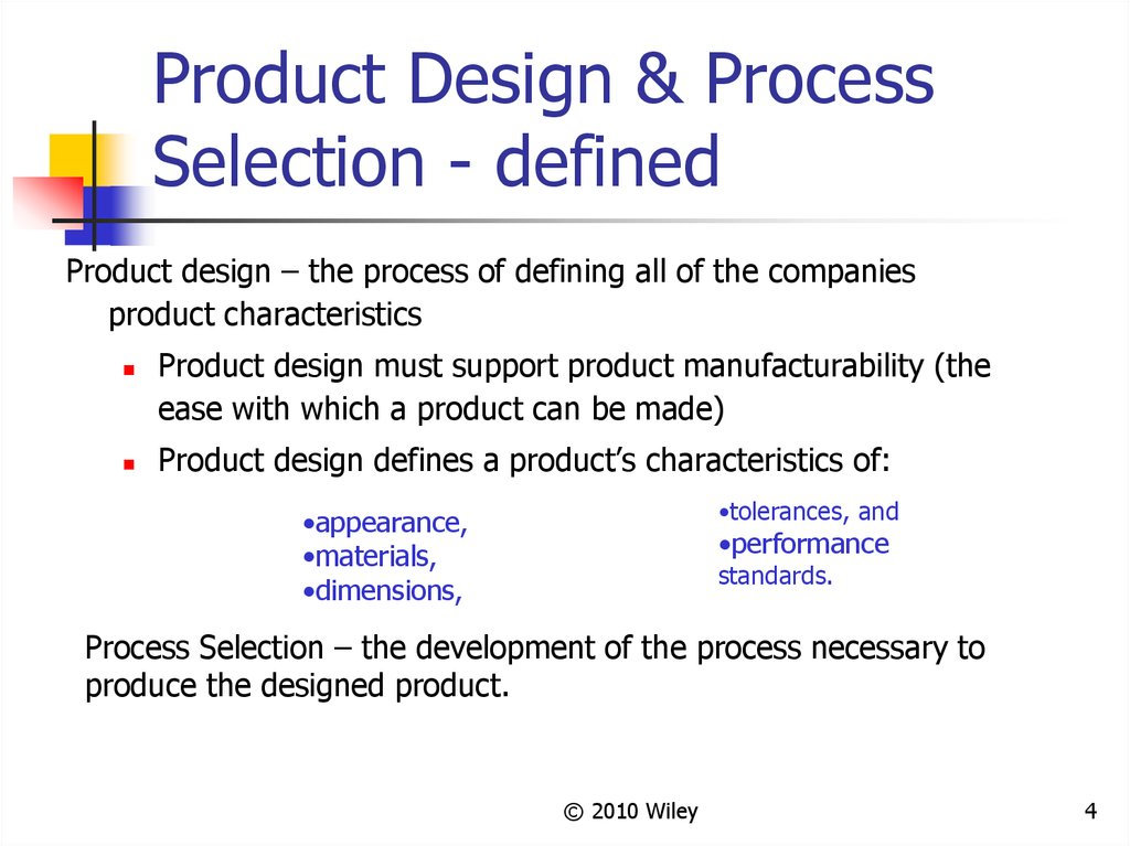 Product Design And Process Selection презентация онлайн