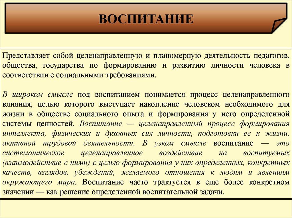 Эссе на тему воспитание личности в процессе учебы 675
