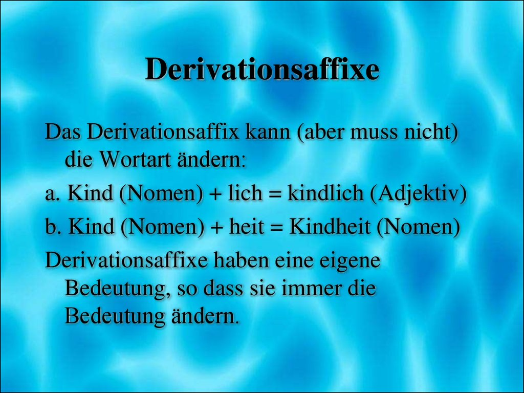 Derivationsaffixe
