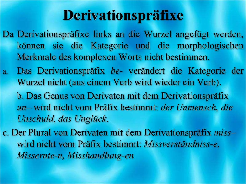 Derivationspräfixe