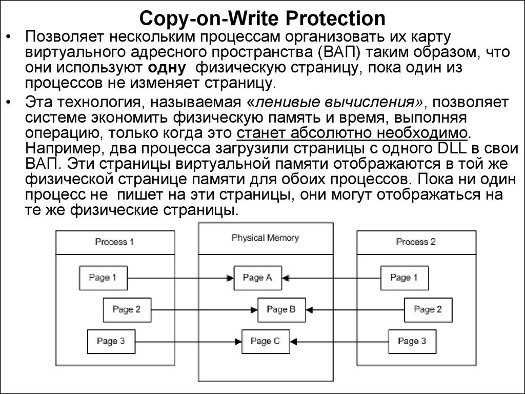 Copy-on-Write Protection