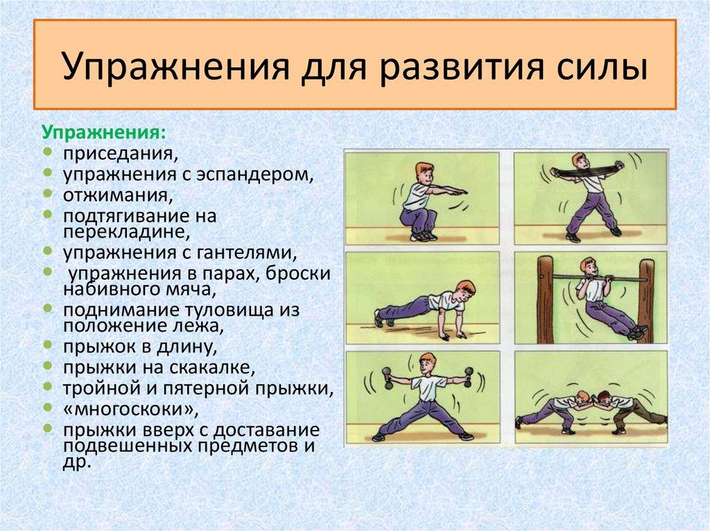 Вилла Тина упражнения для увеличения силы эти