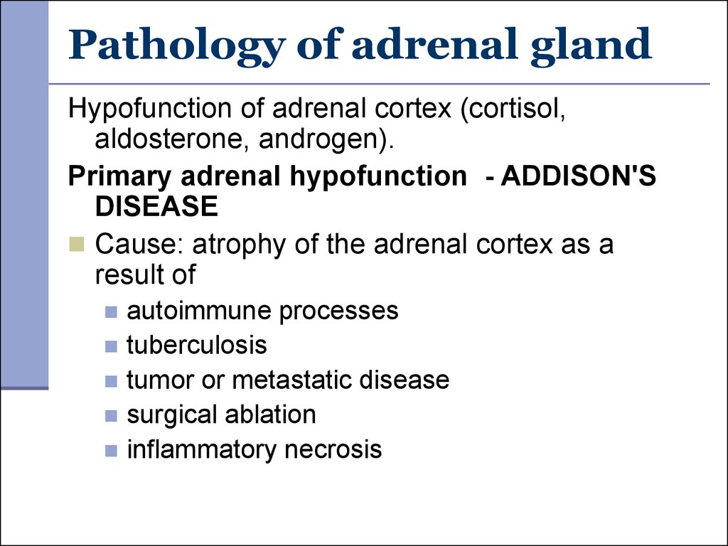 Pathology of adrenal gland