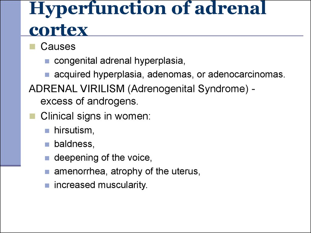 Hyperfunction of adrenal cortex
