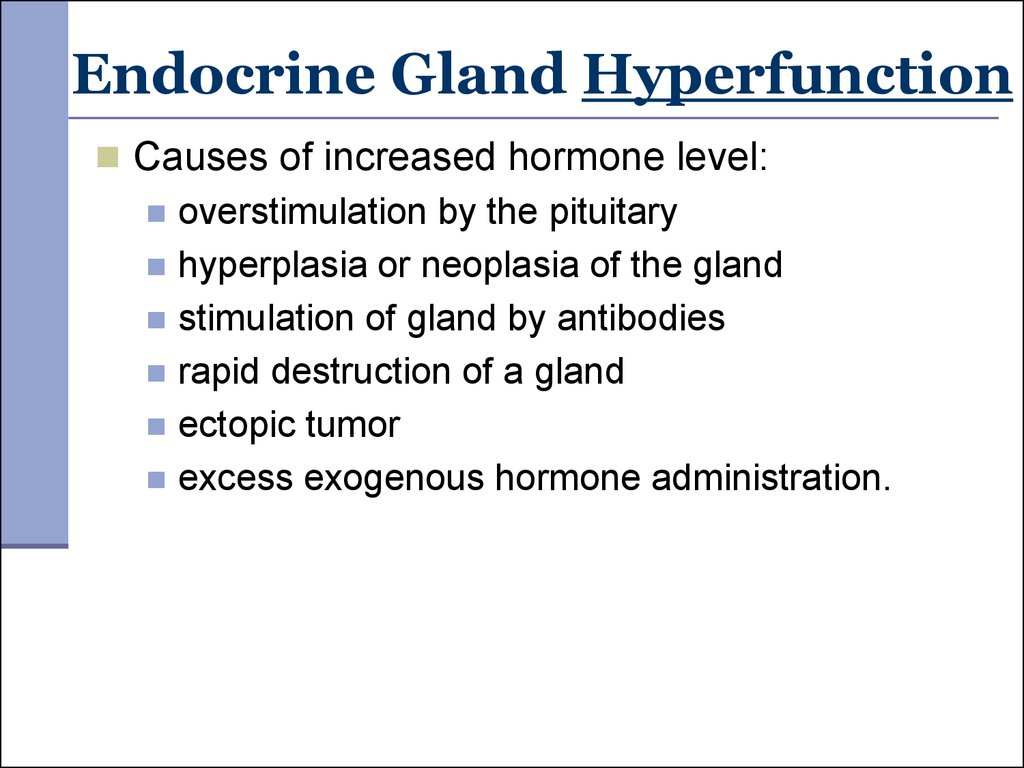 Endocrine Gland Hyperfunction